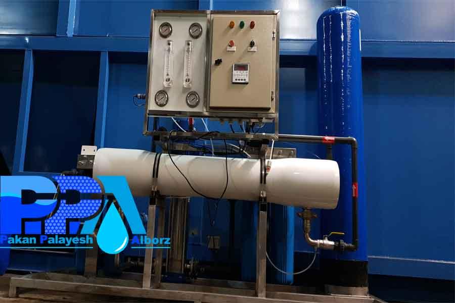 دستگاه تصفیه آب صنعتی به ظرفیت 25 متر مکعب
